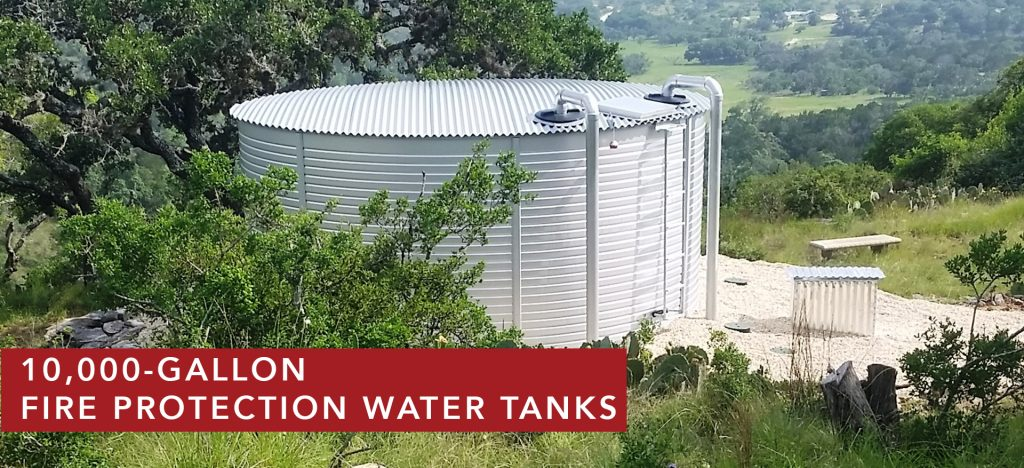 10000 Gallon water storage tanks for fire protection