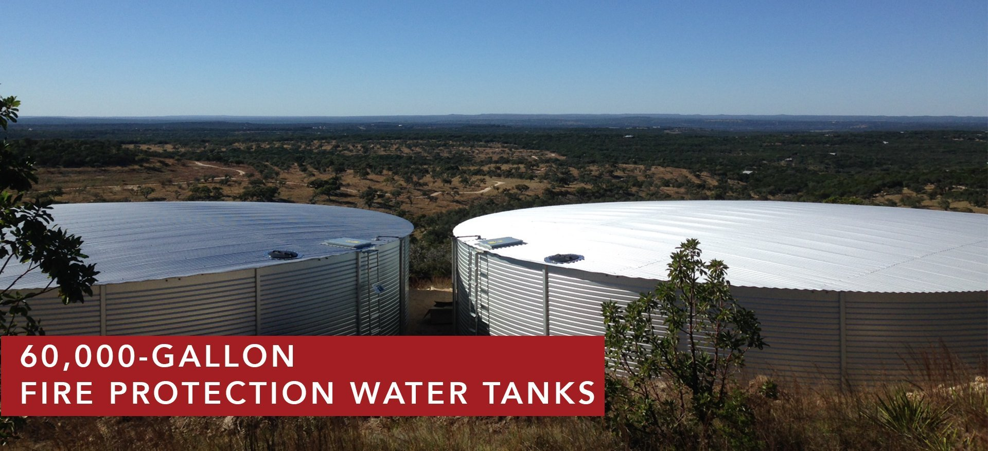 60,000-Gallon Water Storage Tanks for Fire Protection