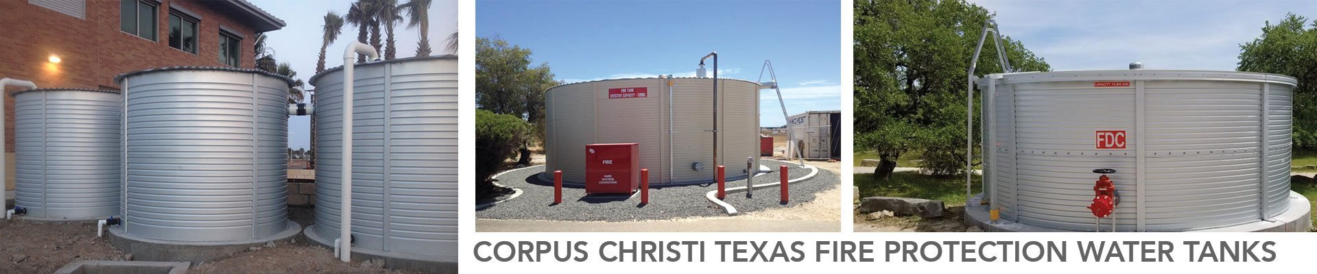 Corpus Christi Texas Fire Protection Water Tanks