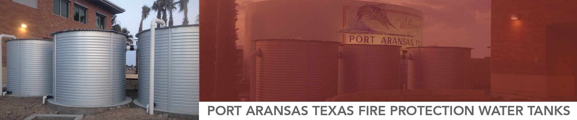 Port Aransas Texas Fire Protection Water Tanks