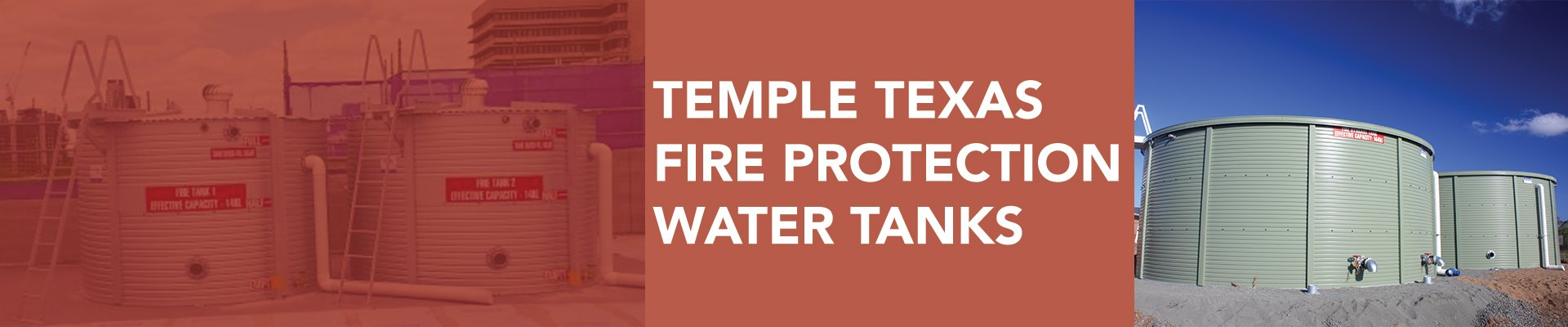 Temple Texas fire protection water tanks