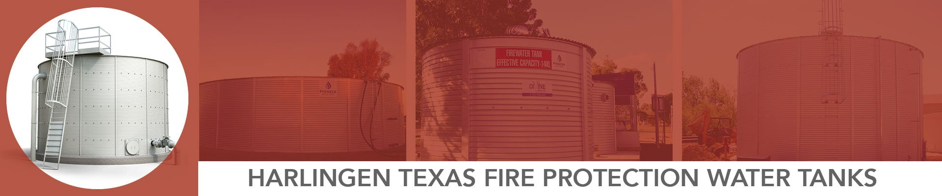 Harlingen Texas Fire Protection Water Tanks