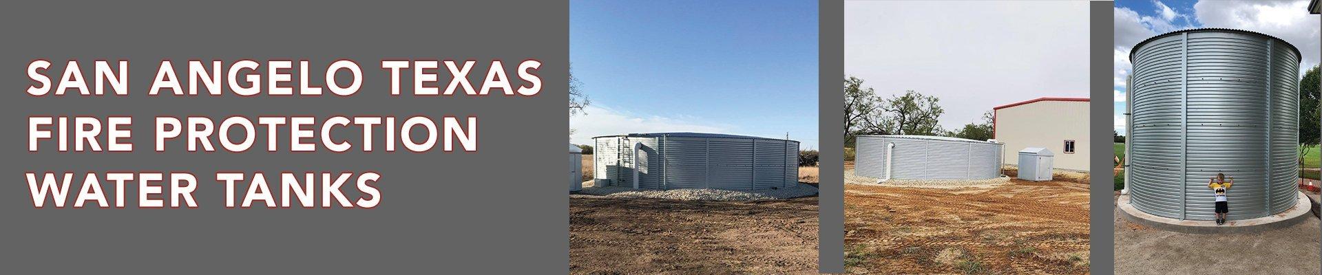 San Angelo Texas fire protection water tanks