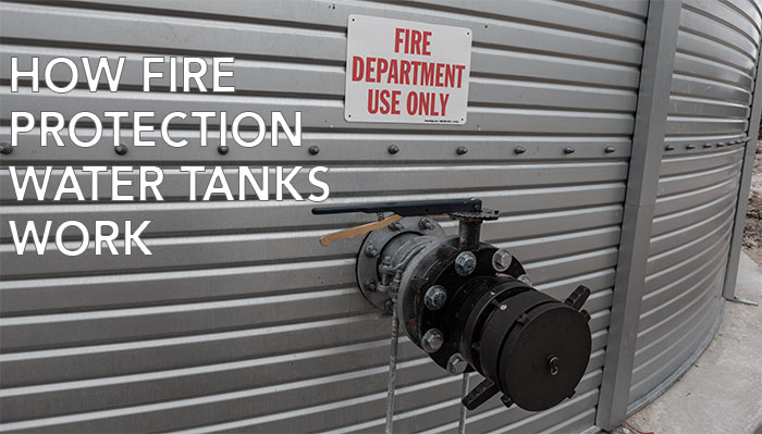 How fire protection water tanks work