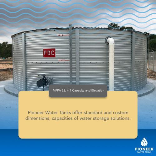 NFPA 22 capacity standard for water tanks