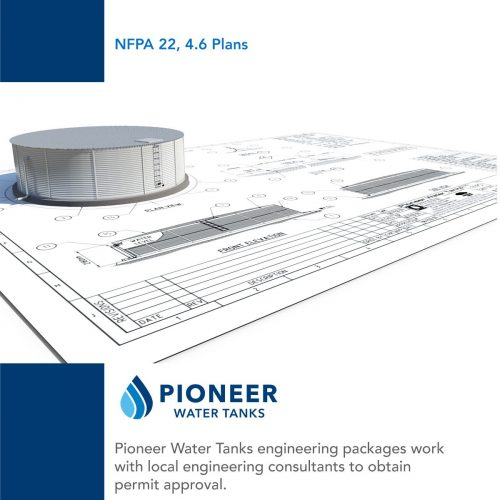 NFPA 22 fire protection water tank permit submittal plan