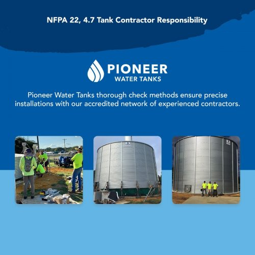NFPA 22 fire protection water tank contractor responsibility