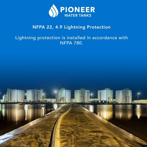 NFPA 22 fire protection water tank lightning protection