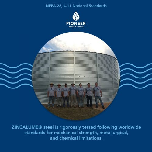 NFPA 22 national standards for fire protection water tanks