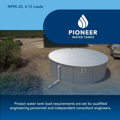 NFPA 22 fire protection water tank load requirements