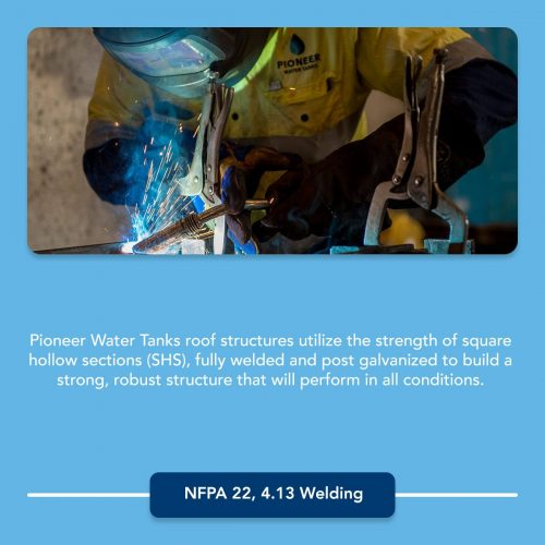 NFPA 22 welding requirements for fire protection water tanks