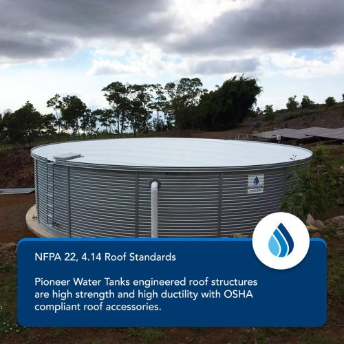 NFPA 22 fire protection water tank roof standards