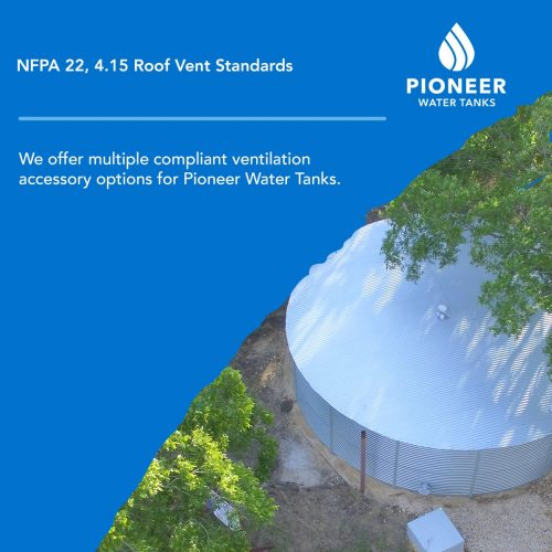 NFPA 22 fire protection water tank roof vent standards
