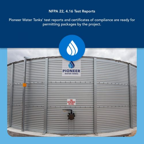 NFPA 22 test requirements for fire protection water tanks
