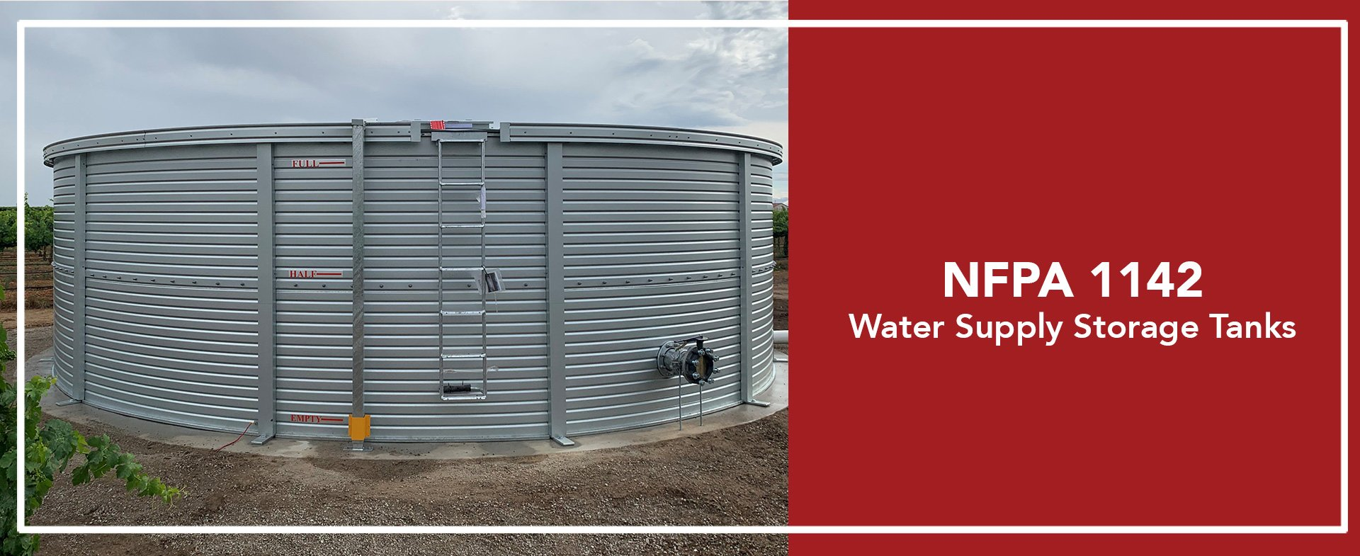 NFPA 1142 water supply tanks in California